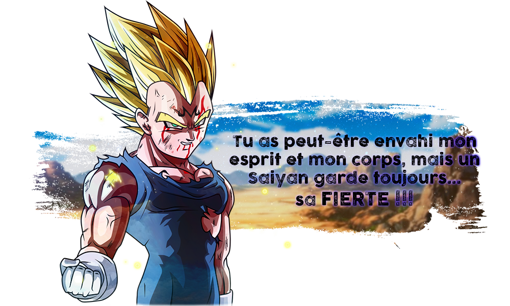 Majin Vegeta avoue des choses... 7u55