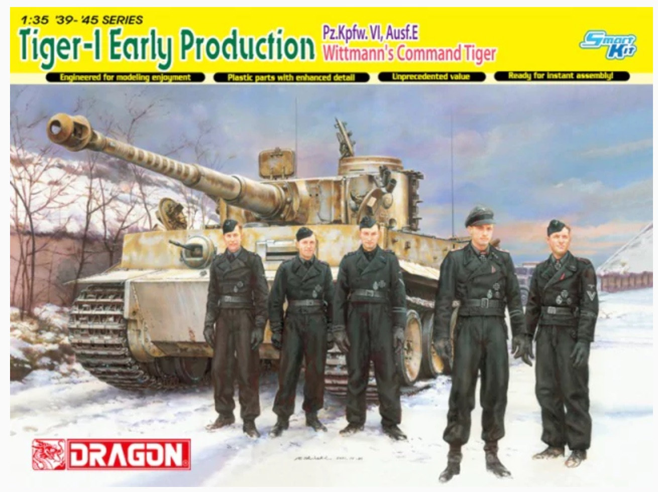 Tiger-1 Early production, kit Dragon 9ktj