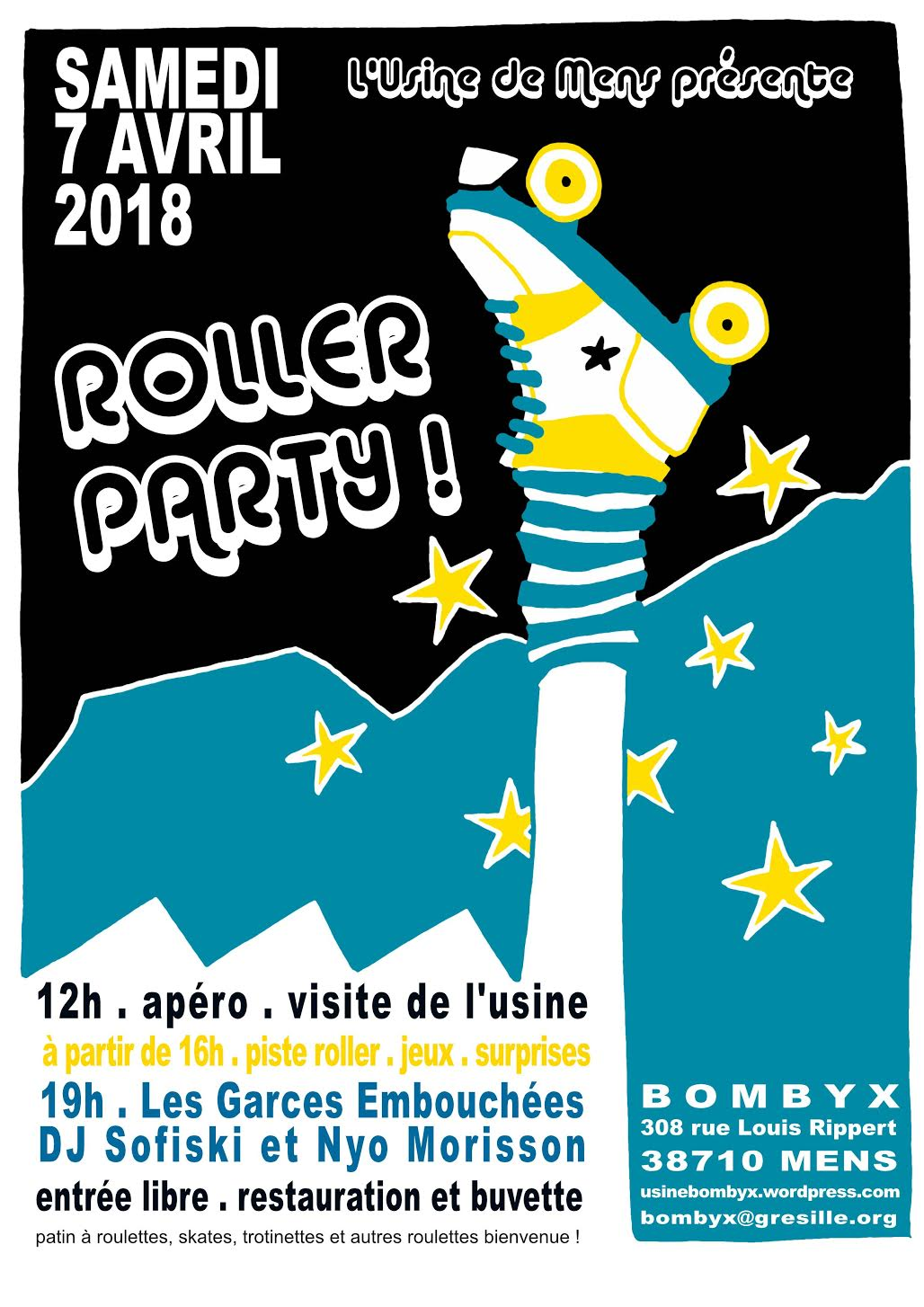 Roller Party ! dans Trieves evenements b4cv