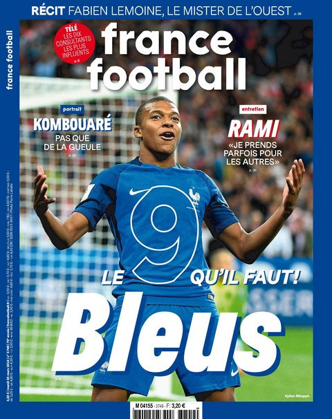 France Football N°3749 - 20 Mars 2018 sur Bookys