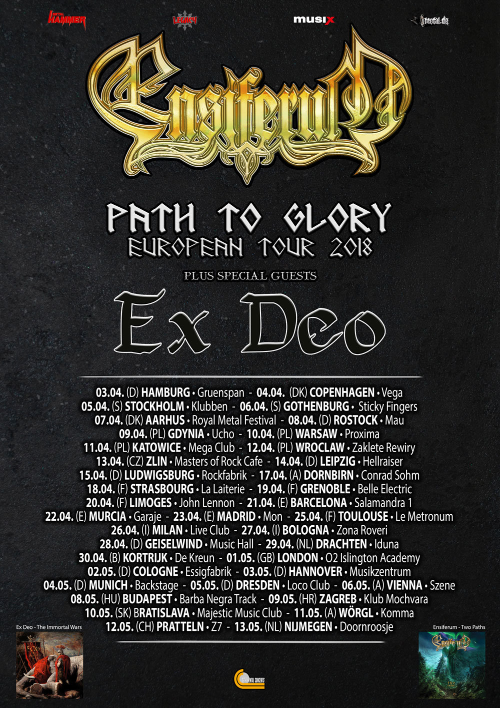 Ensiferum - European Tour 2018