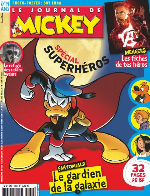 Le Journal de Mickey N°3436 - 25 Avril 2018 sur Bookys