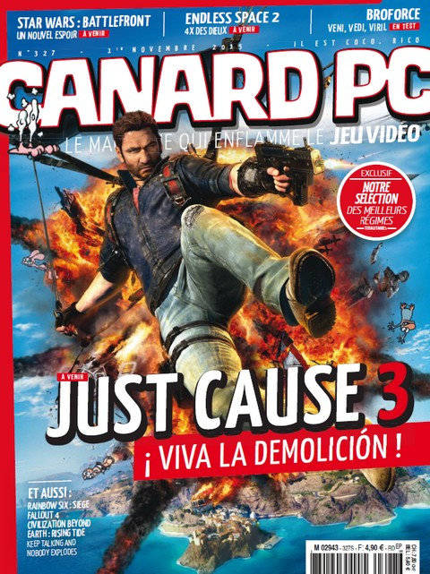Canard PC N°327 - Novembre 2015 [Old] sur Bookys