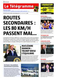 Le Télégramme ( Brest) Du Mercredi 9 Mai 2018