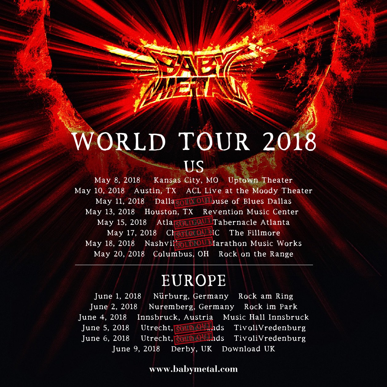 BabyMetal - World Tour 2018