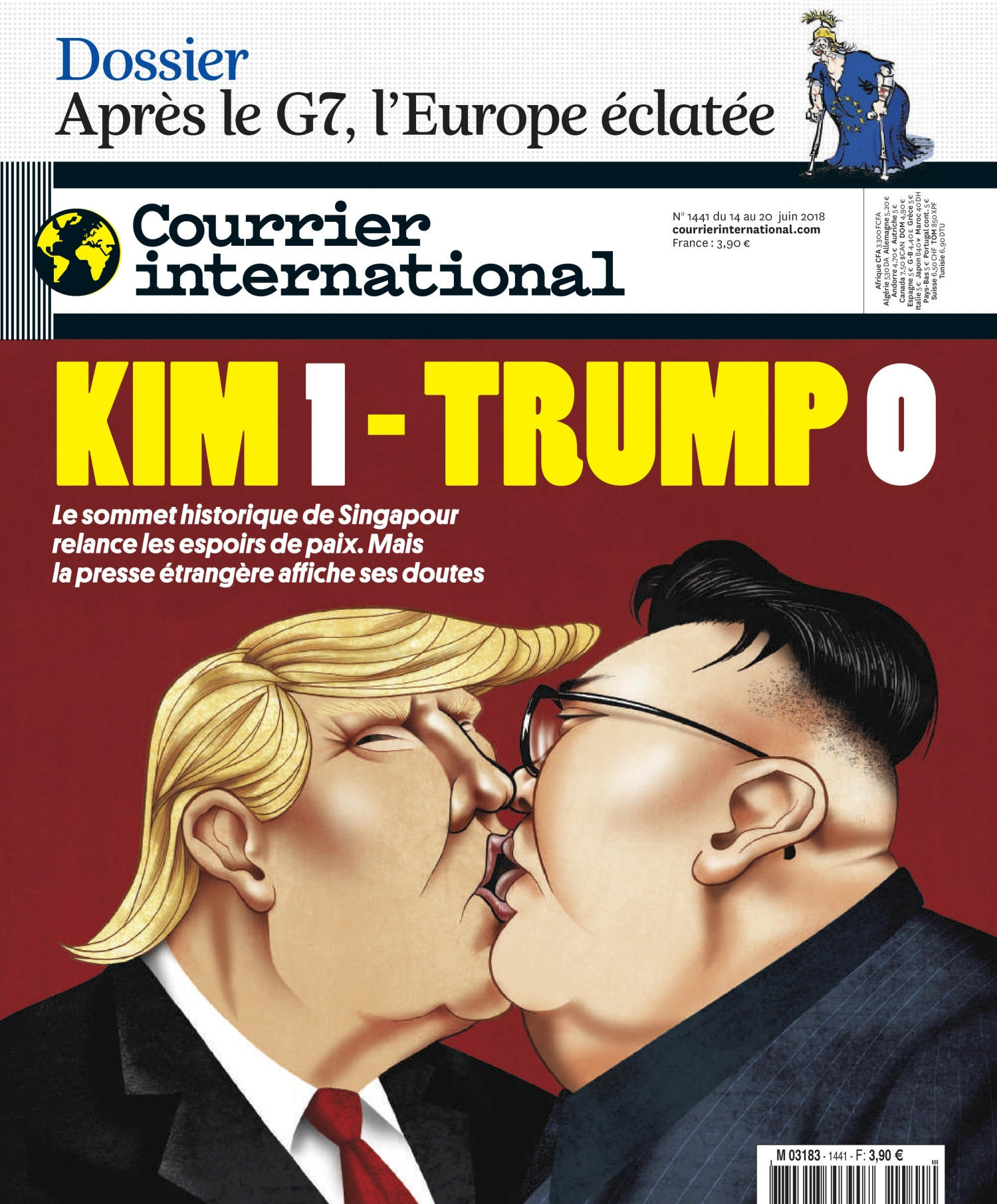Courrier International N°1441 Du 14 Au 20 Juin 2018