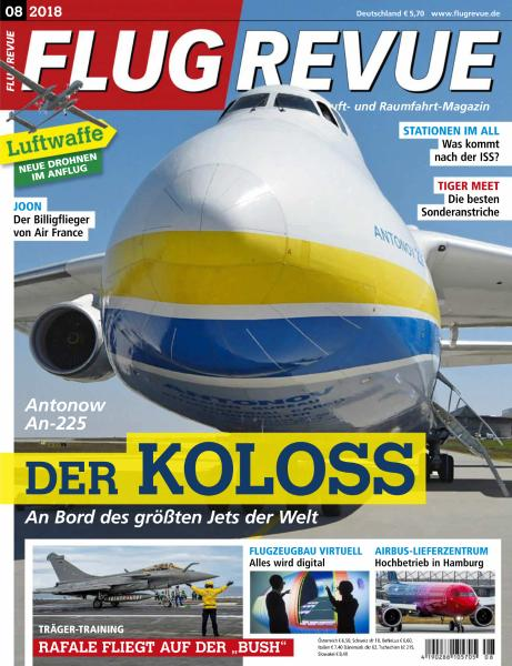 Flug Revue - August 2018 sur Bookys