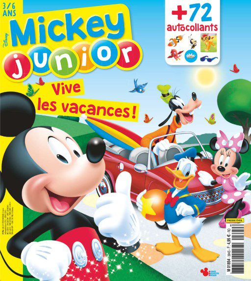 Mickey Junior - Juillet 2018 sur Bookys