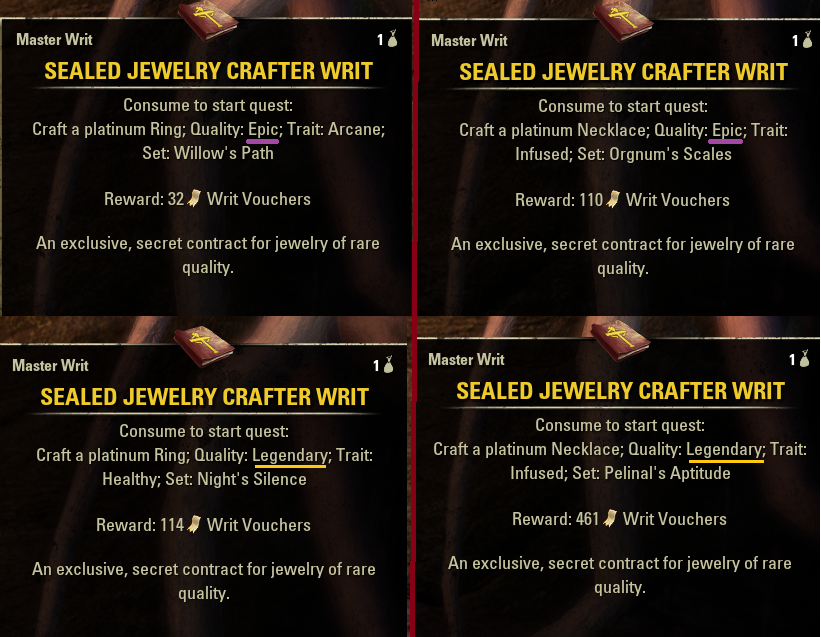 eso jewelry crafting writs pts update 19 feedback thread for jewelry crafting 8045