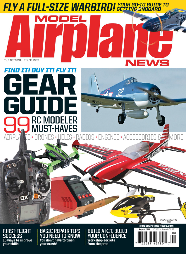 Model Airplane News - August 2018 sur Bookys