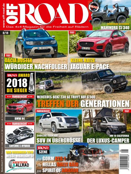 Off Road Germany - August 2018 sur Bookys