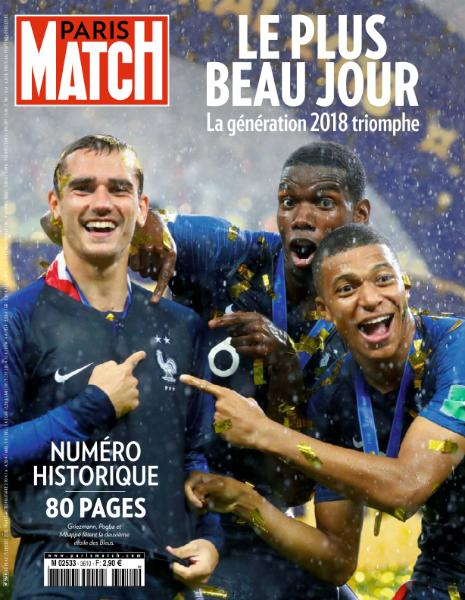 Paris Match - 18 Juillet 2018 sur Bookys