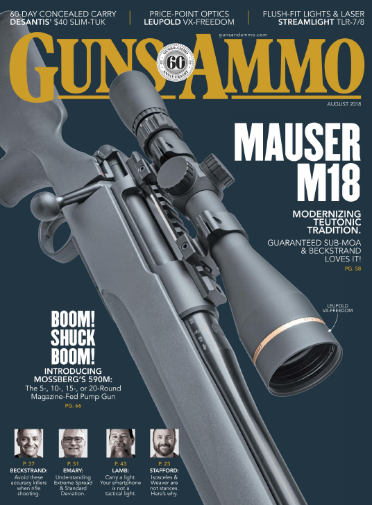 Guns Ammo - August 2018 sur Bookys