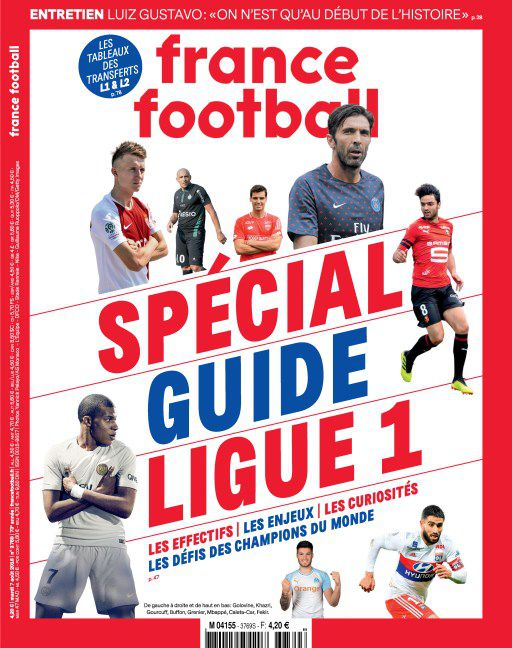 France Football - 7 Août 2018 sur Bookys