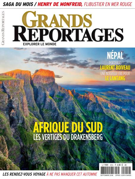 Grands Reportages - Septembre 2018 sur Bookys