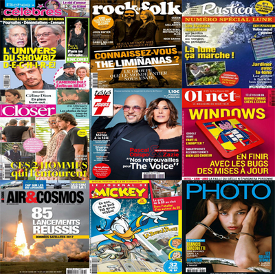 PACK MAGAZINES Du Vendredi 12 Octobre 2018
