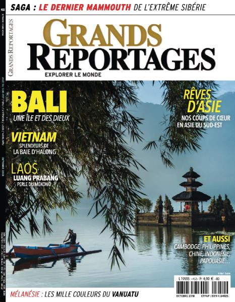 Grands Reportages - Octobre 2018 sur Bookys
