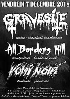 Gravesite, All Borders Kill, Vomi Noir