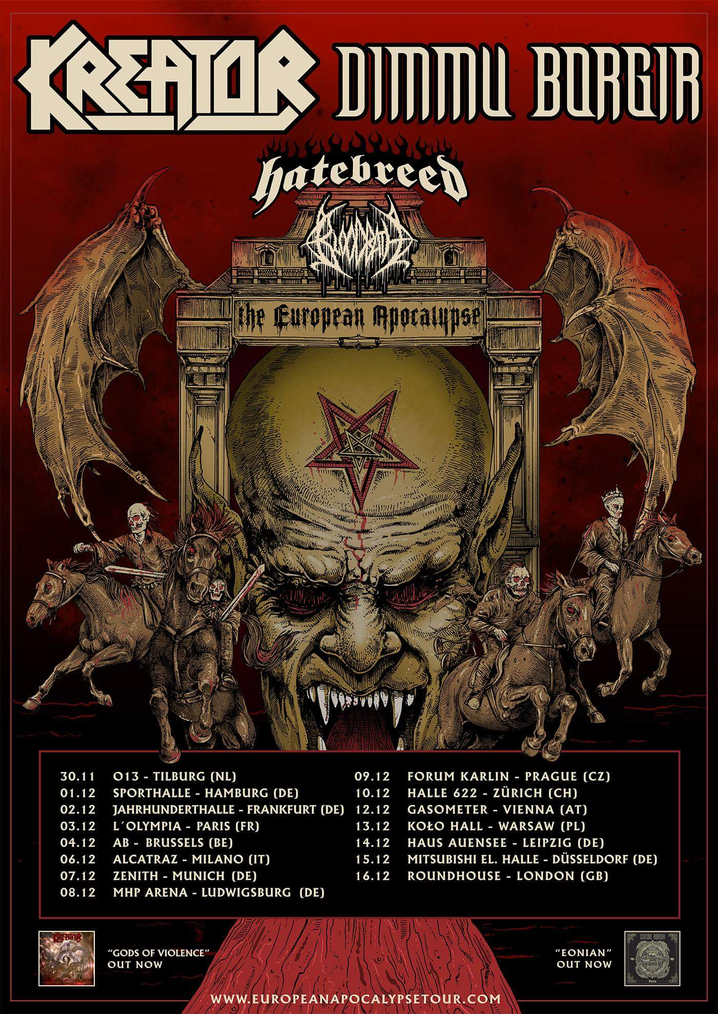 Kreator, Dimmu Borgir, Bloodbath, Hatebreed - The European Apocalypse
