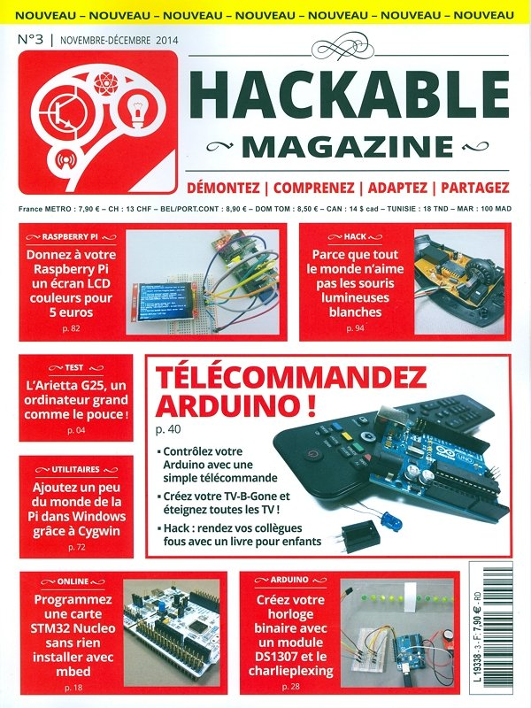 Collection complète de 27 Hackable magazines 01 (07/2014) -> 27 (11/2018)