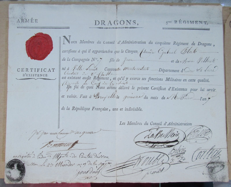 Un document du 5ème Dragon en l'An 7 W1sz