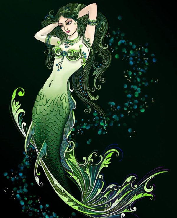 ----------------------------------------------------------------------------------------------belle illustration de sirène. dans illusrations diverses ta4f