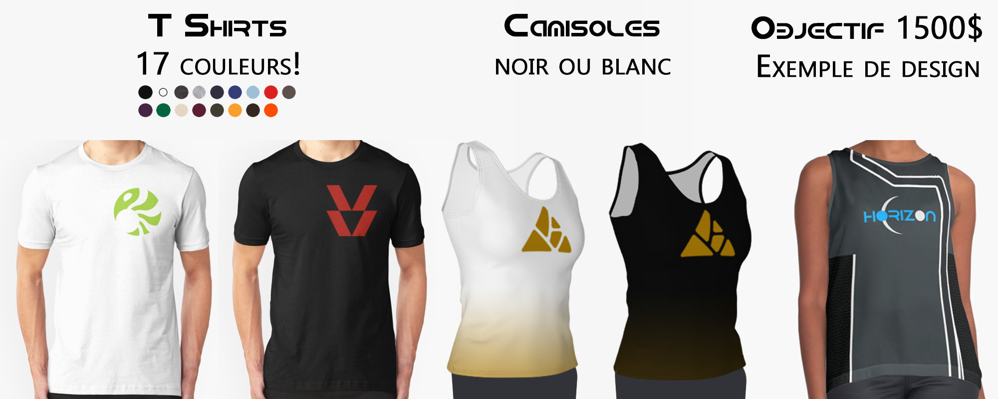 T-shirts, camisoles et plus