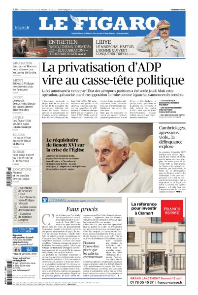 Le Figaro & supplement du Vendredi 12 Avril 2019