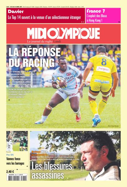 Midi Olympique Rouge Du Lundi 8 Avril 2019