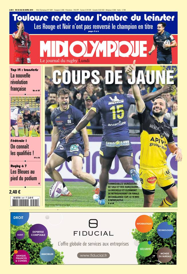 Midi Olympique Rouge Du Lundi 22 Avril 2019