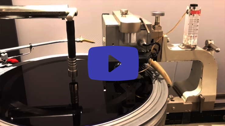 Video making of a vinyl record