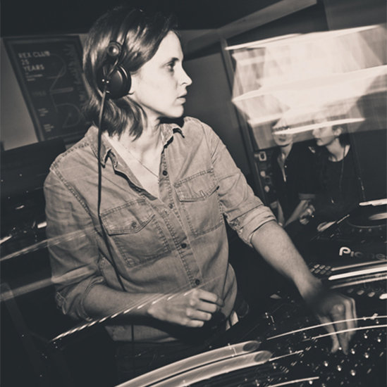 Chloe in a dj booth