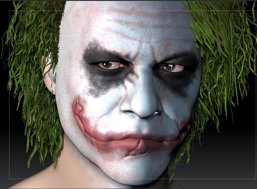 3D JOKER HEATH LEDGER  0kva