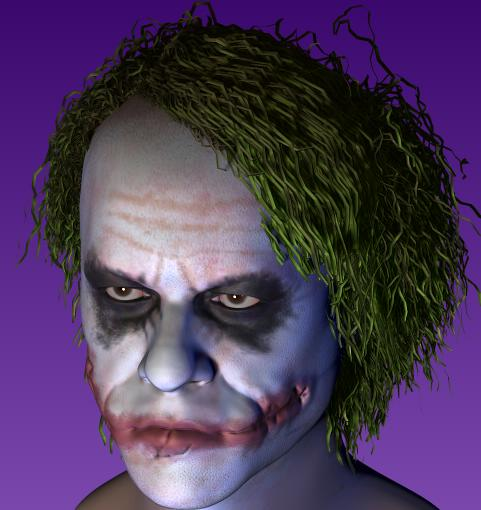 3D JOKER HEATH LEDGER  Za8m