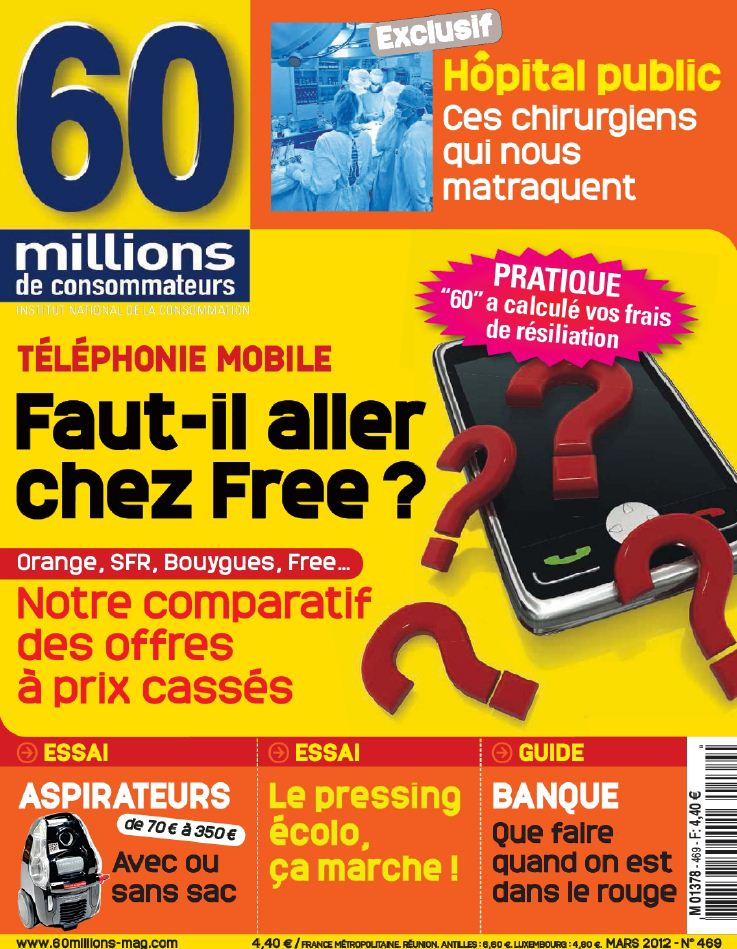 telecharger magazine 60 millions de consommateurs n 469 mars 2012. Black Bedroom Furniture Sets. Home Design Ideas