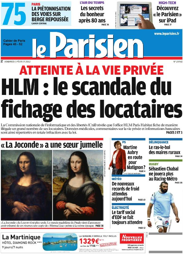 t l charger le parisien journal de paris vendredi 3. Black Bedroom Furniture Sets. Home Design Ideas