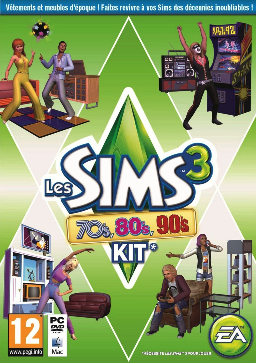 The Sims 3 70s 80s and 90s Stuff (2013) [ISO VO]