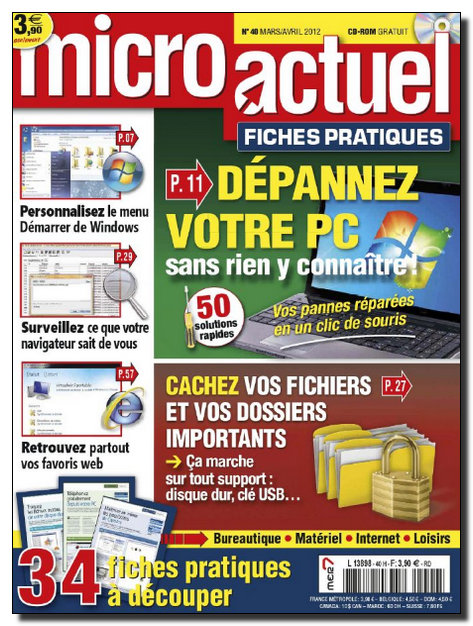 Micro Actuel Fiches Pratiques N°40 - Mars-Avril 2012 [NEW/HQ/UL]