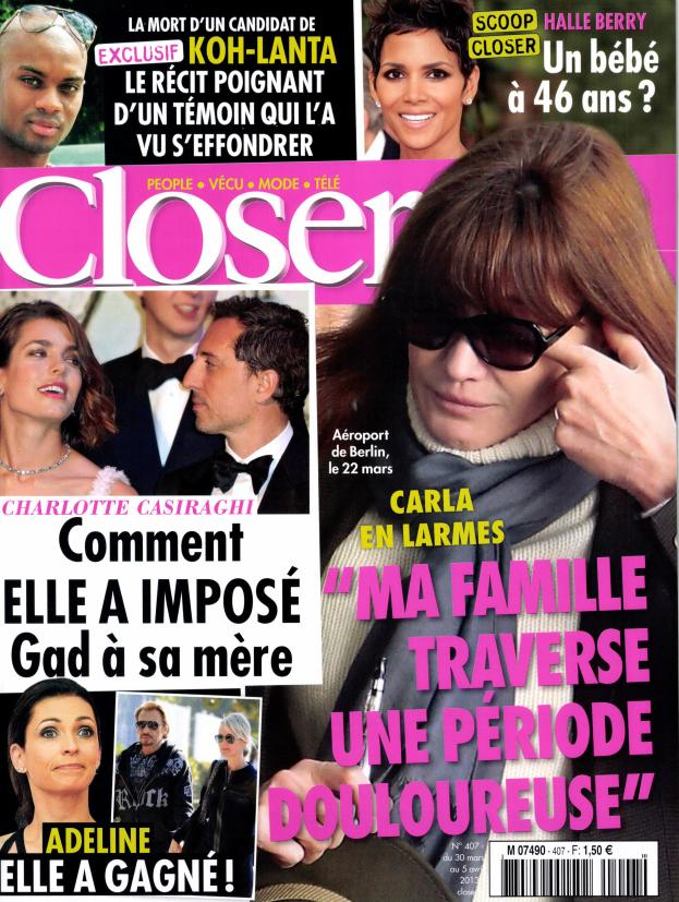 Closer N°407 - 30 Mars au 5 Avril 2013 [Multi]