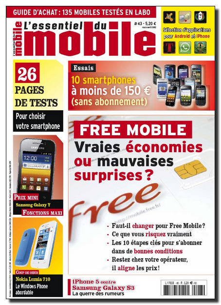 L'Essentiel du Mobile N°43 - Mars-Avril 2012 [NEW/SsTags/HQ/UL]