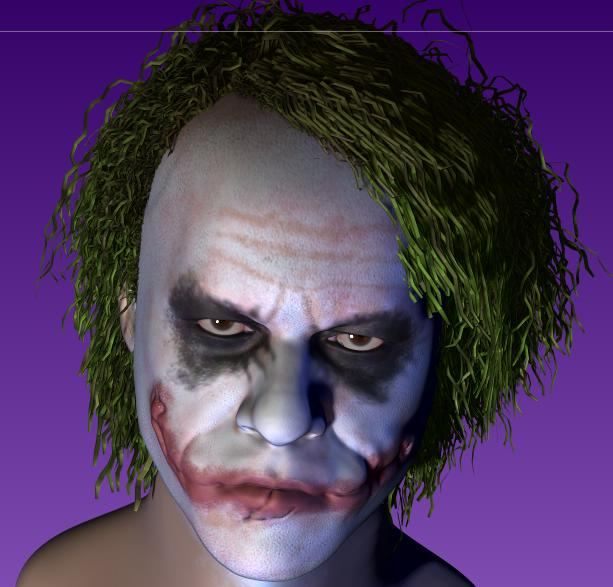 3D JOKER HEATH LEDGER  8bqb