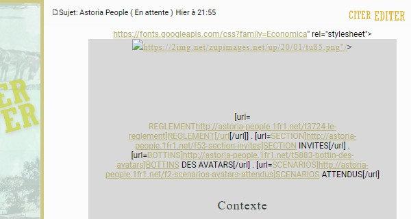 Problemes relatif aux codes et liens dorum  Licd