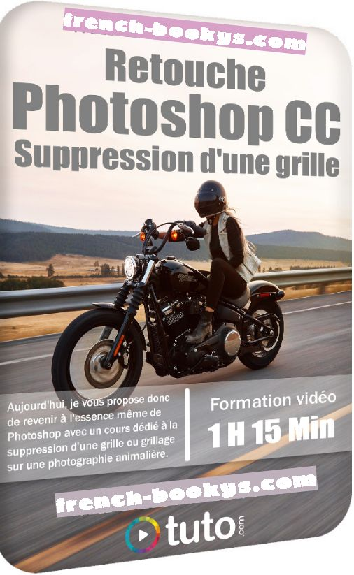 Tuto – Retouche Photoshop CC – Suppression d'une grille (2020)
