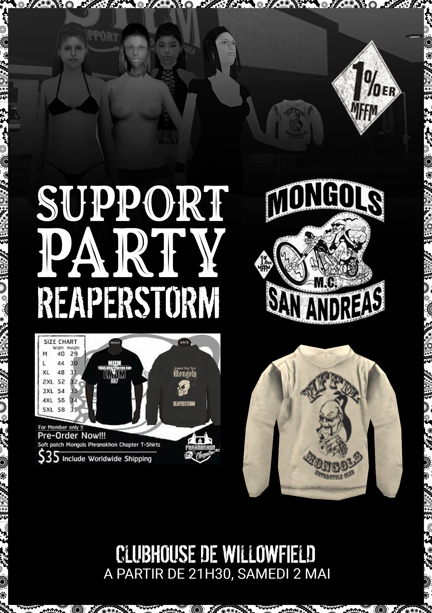 Support Party - Mongols Nation Motorcycle Club G6j2