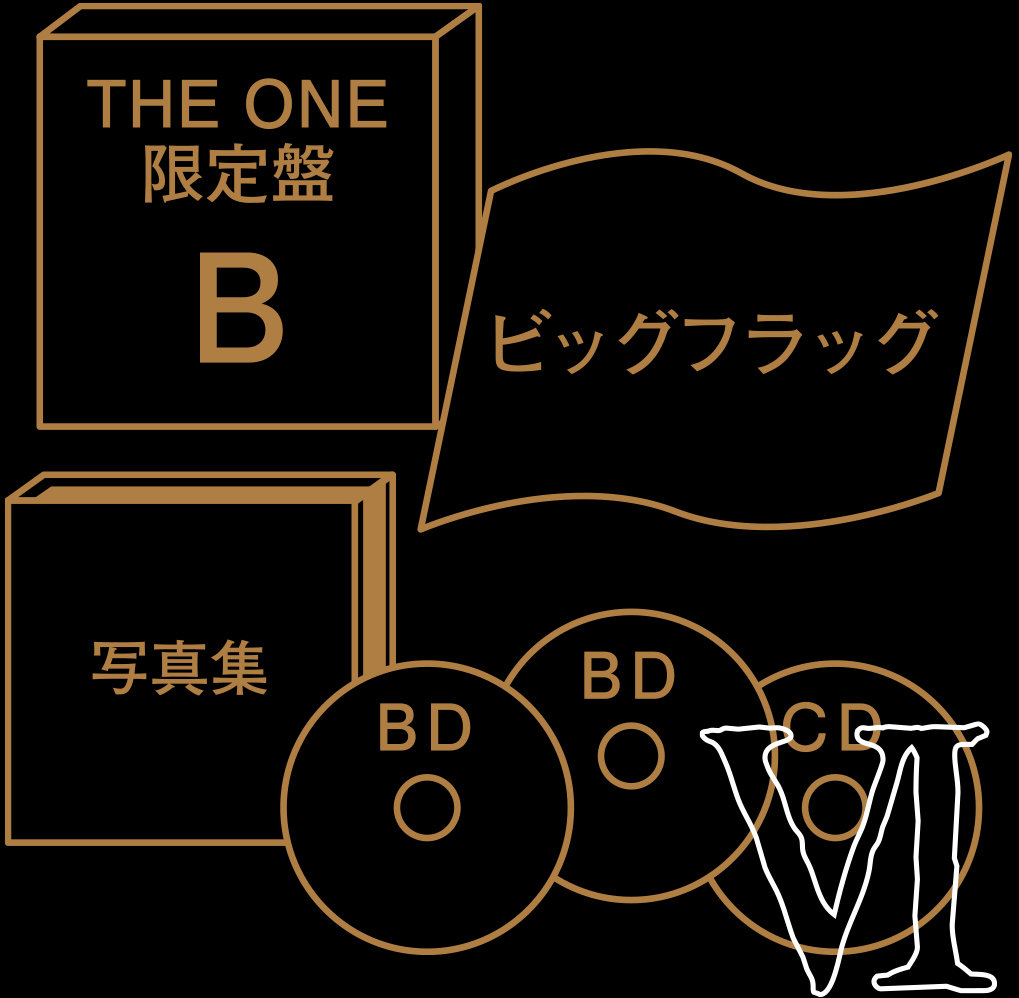 "EDITION THE ONE  LIMITED EDITION B ""CHRONICLE SET"" CD + 2 BLU-RAY"