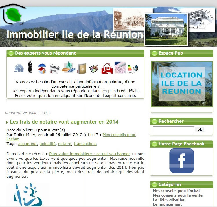 Immobilier reunion